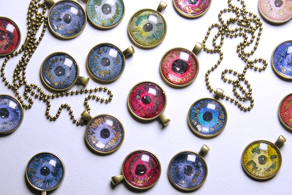 WITCH EYE pendants (hand-painted by Kim)