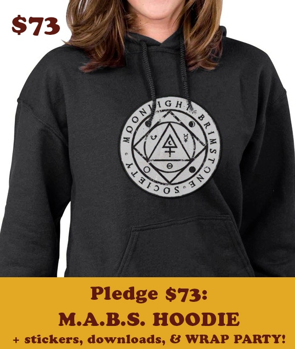 Your pledge of $73 earns you this SLICK hoodie, an invitation to the private WRAP PARTY, and the title of MABS Chancellor. Thank you and congratulations!