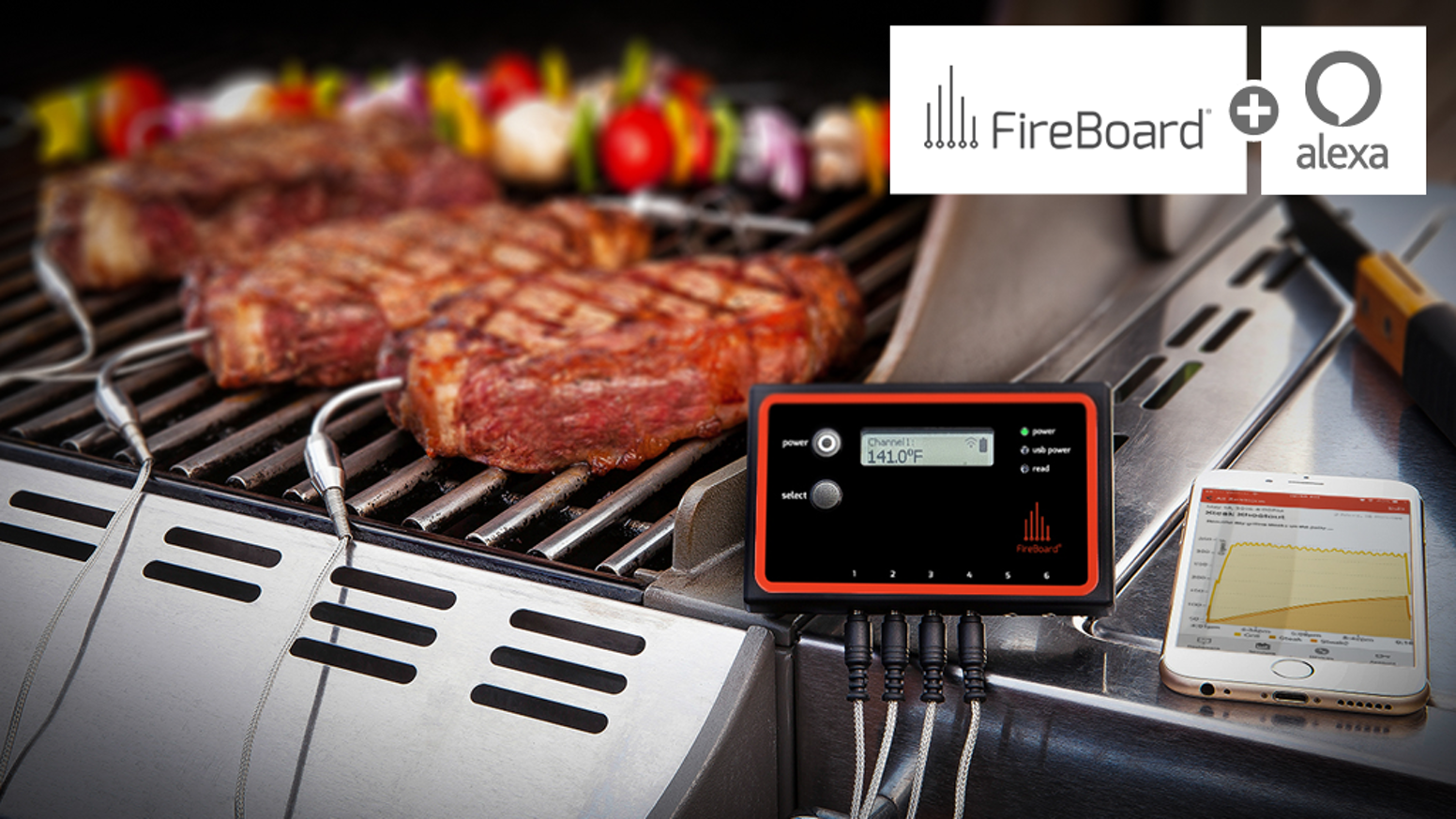 Get yours at FireBoard.com - Most orders ship same day! Monitor your cooking & bbq from your phone - and Amazon Alexa!  Synced conveniently to the cloud via WiFi and Bluetooth.