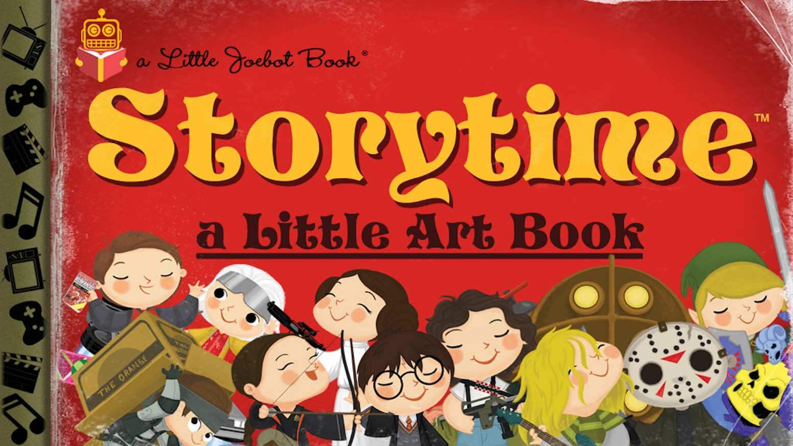"An art book collecting all 125+ ""Storytime"" prints - a series of pop-culture inspired artwork by artist Joey Spiotto."
