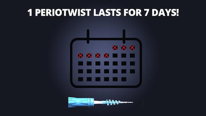 A single PerioTwist last 7-10 days