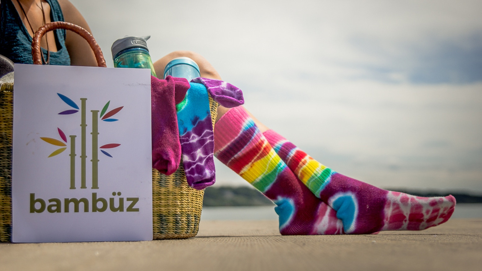 Colorful, comfy, hand-dyed bamboo socks for men and women, that can