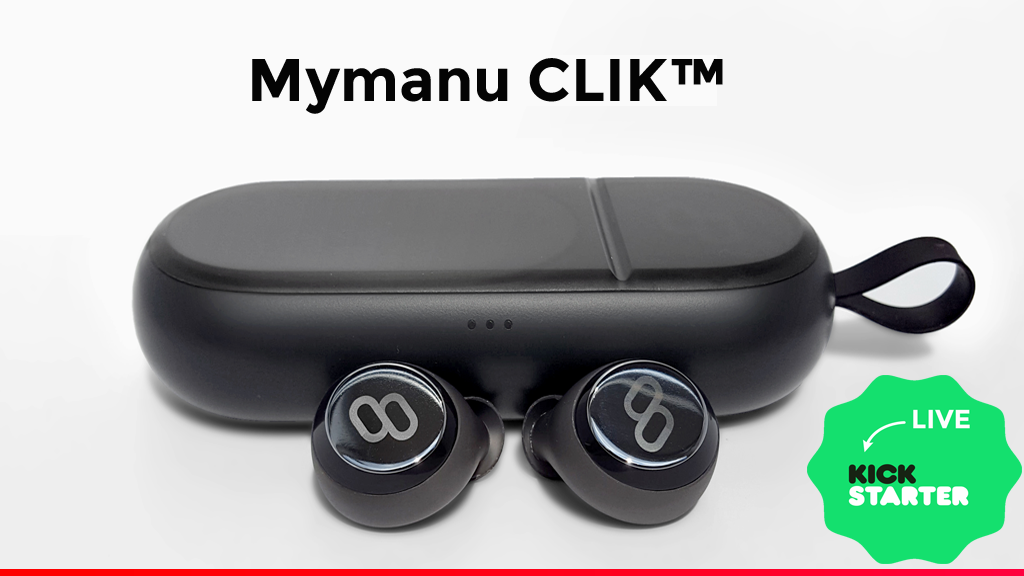 Mymanu CLIK-Truly wireless earbuds with voice translation project video thumbnail
