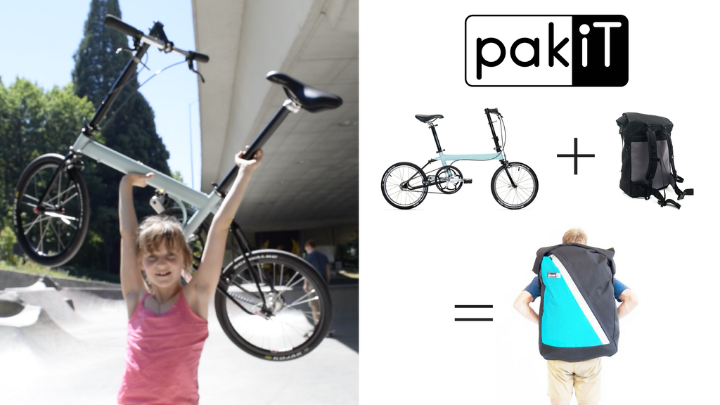 pakiT City Bike: Lightest Folding Bike Ever Fits in Backpack project video thumbnail