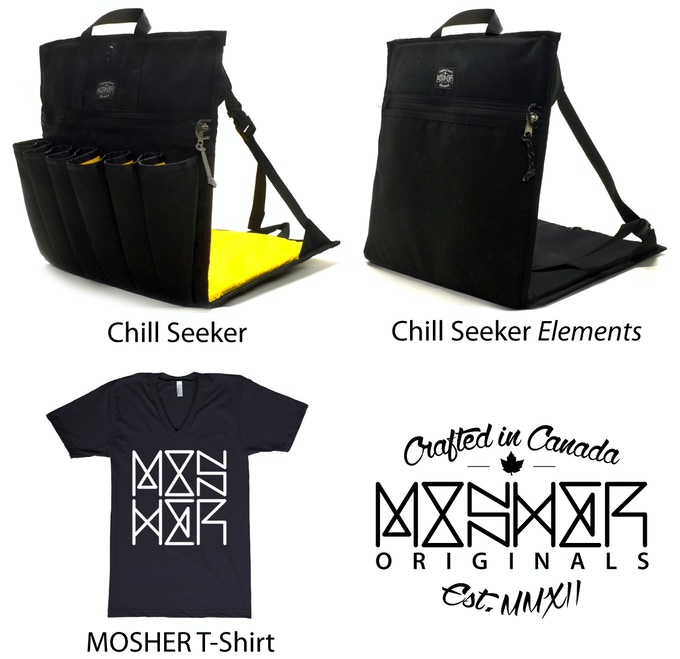 The Chill Seeker, Chill Seeker Elements and our MOSHER T-Shirt