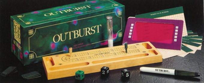 Beauty shot of the first run of Outburst. Only 50,000 pieces were ever made in this format