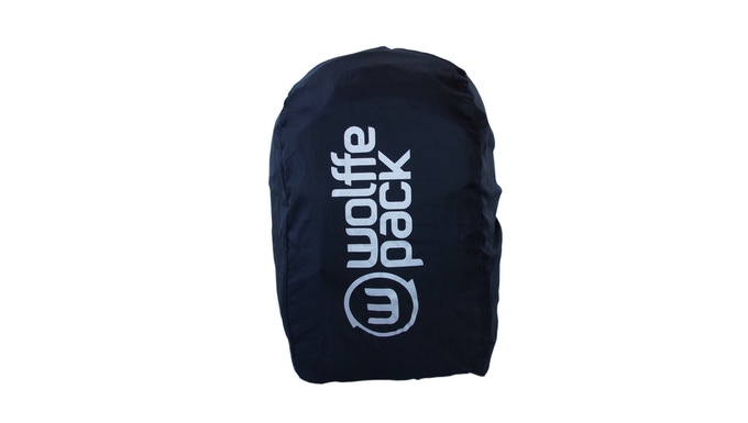 62838abbd3485 Get the waterproof branded Wolffepack raincover to fit your own backpack up  to 35 litres