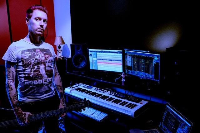 Blue Stahli in the studio
