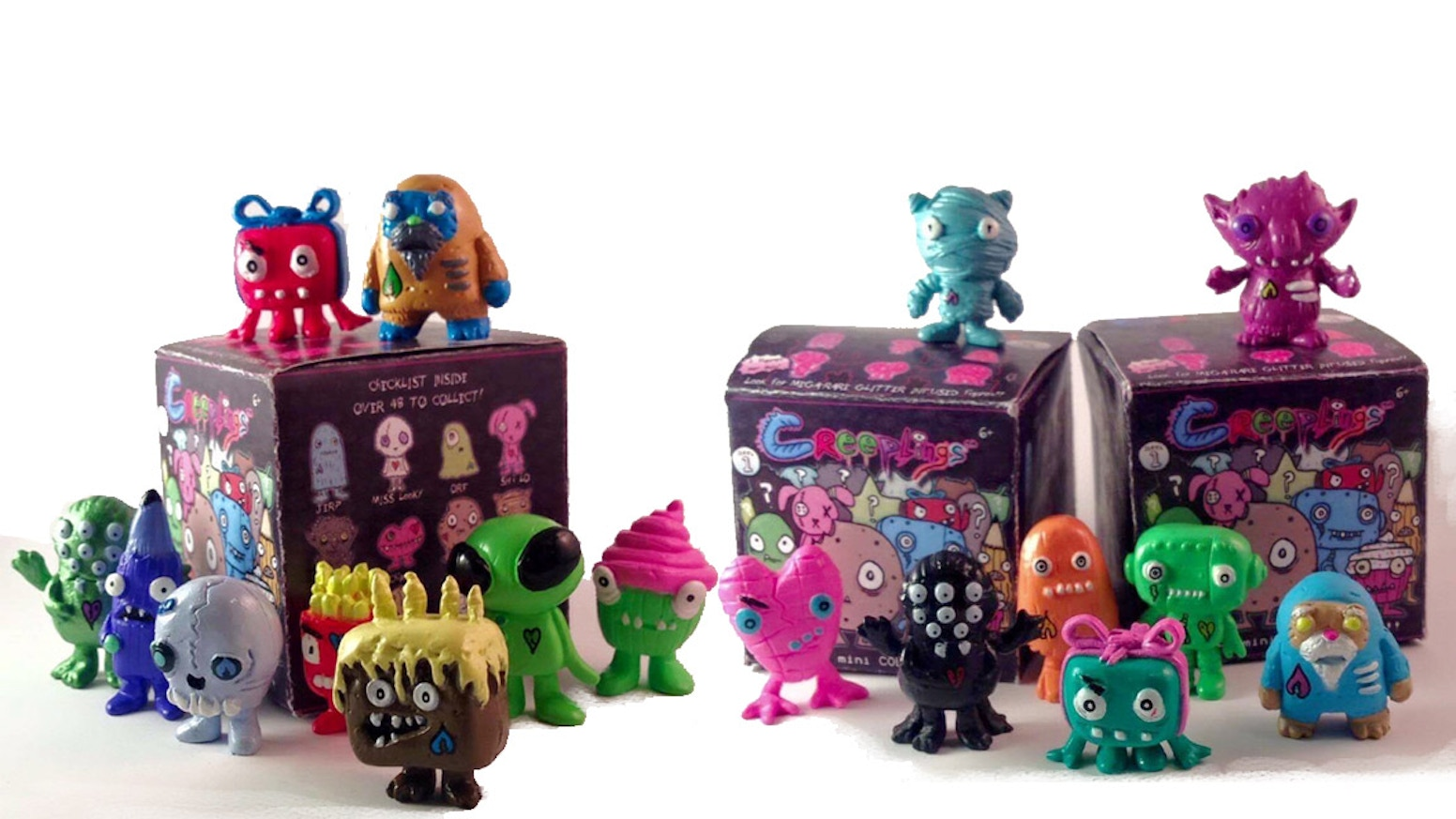 Love the fun of Halloween and want it everyday? Creeplings are a new collectible blind box/bag line of spooky-fun miniatures