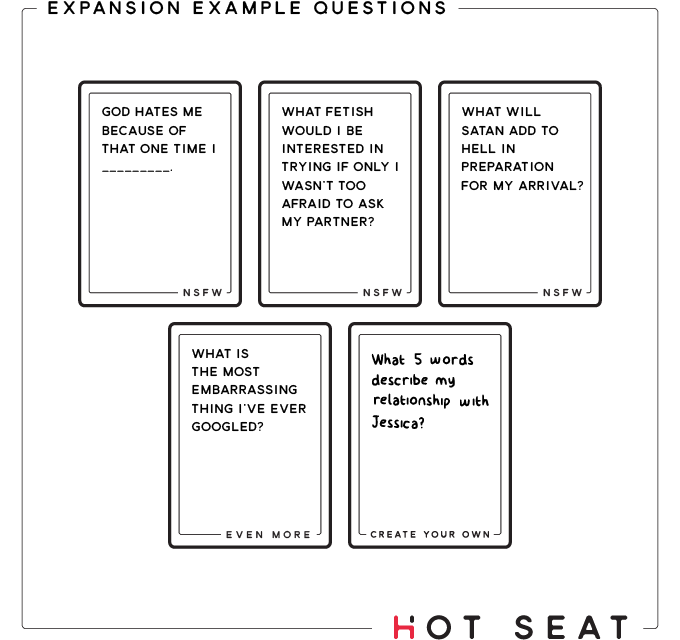 Sex Questions Game Cards