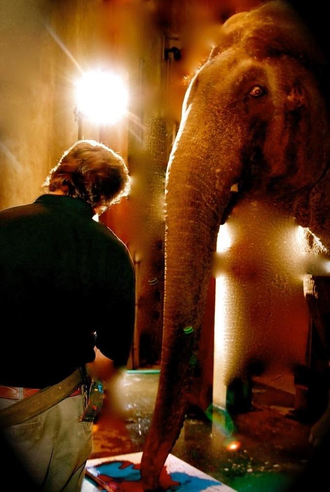 Jeb Barsh, Elephant Keeper and Rama the Elephant...soul brothers