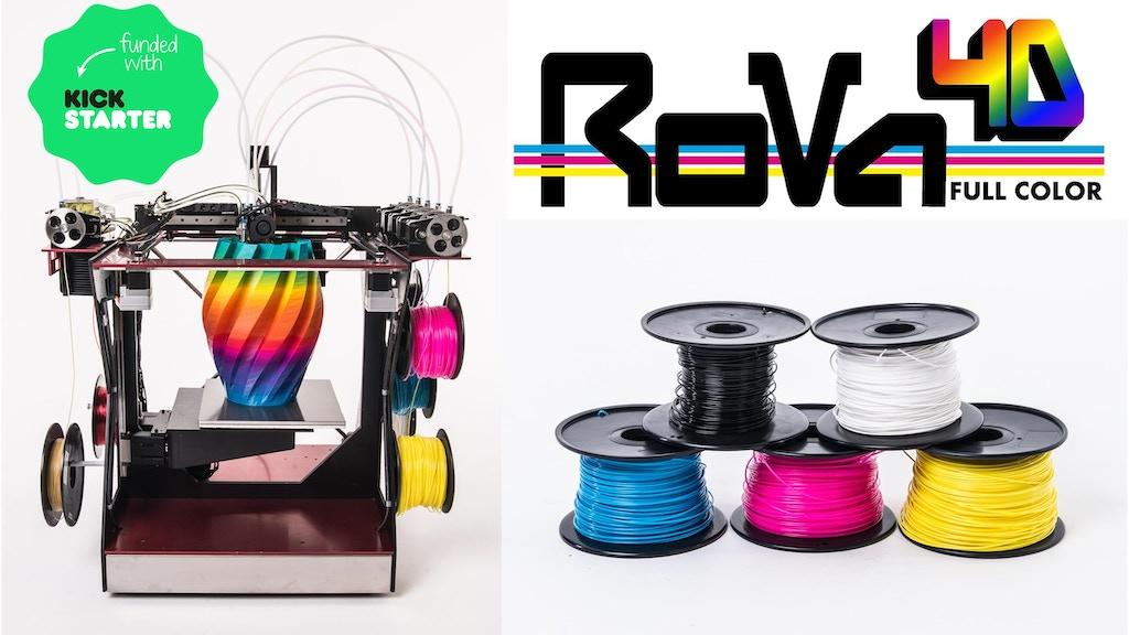 Miniature de la vidéo du projet RoVa4D Full Color Blender 3D Printer