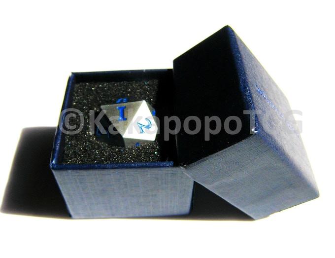 Prototype Silver Dice in Prototype Packaging
