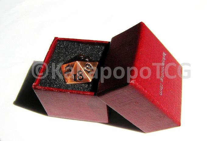 Prototype Copper Dice in Prototype Packaging