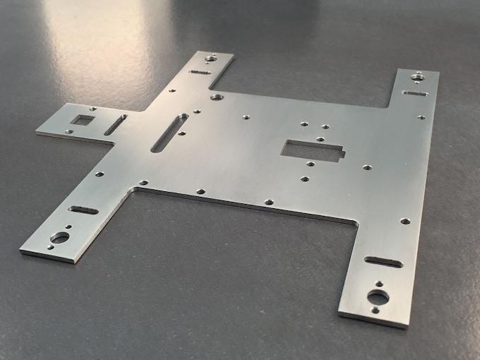 YetiBorg 2mm aluminium chassis