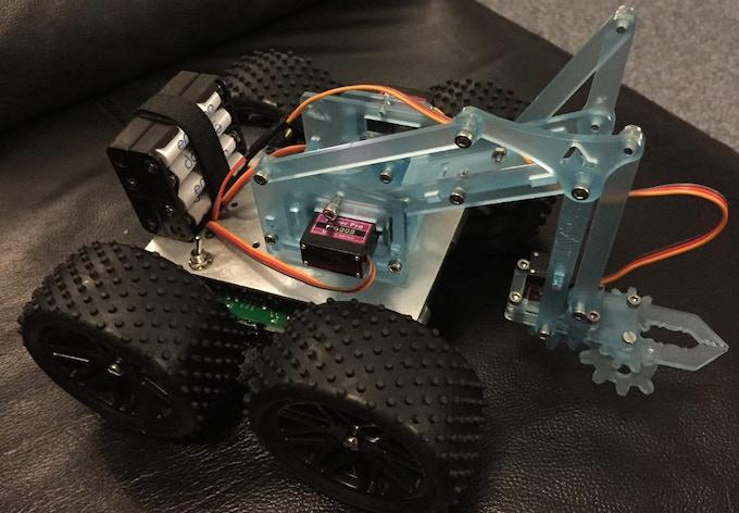 ArmyBorg - YetiBorg Raspberry Pi robot with meArm