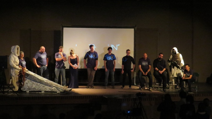 The Northbound team conducts a Q&A at the sold-out Season 1 Premiere held at Iron Mountain's Braumart Theater.