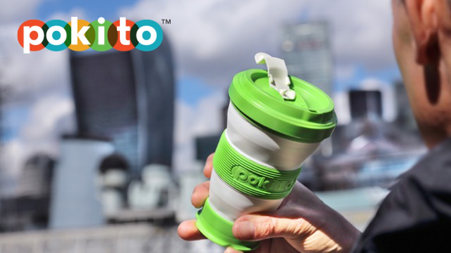 An eco-friendly cup that adjusts to three sizes then scrunches up when you're done.  Ditch disposables: get a pokito!