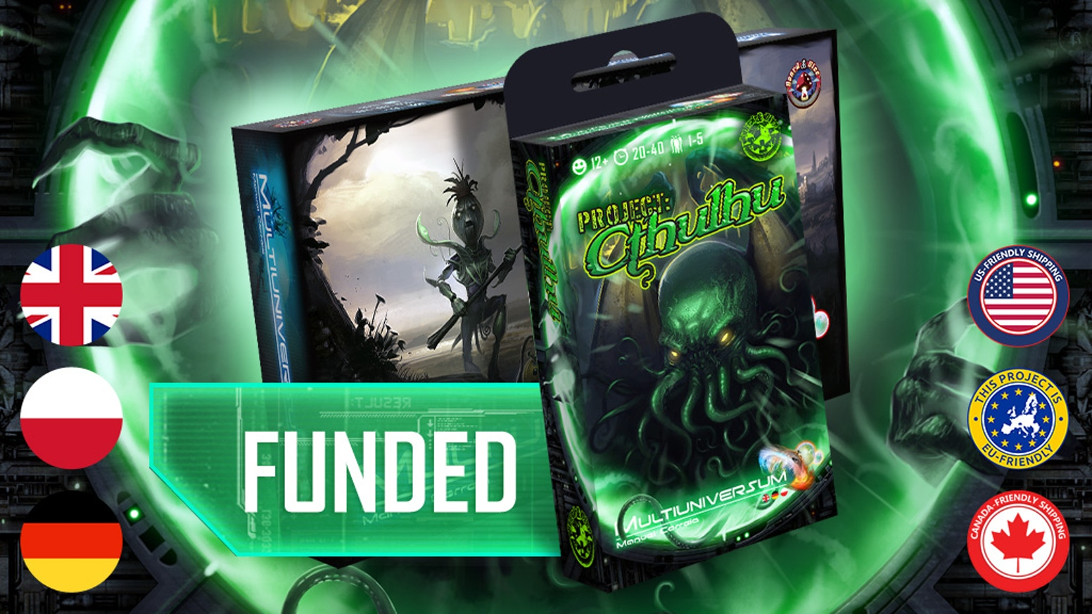Multiuniversum is a card game, in which players use actions to do research at the Hadron Collider and close portals to other realities!
