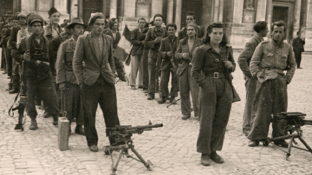 Partisans in Reggio Emilia after the liberation