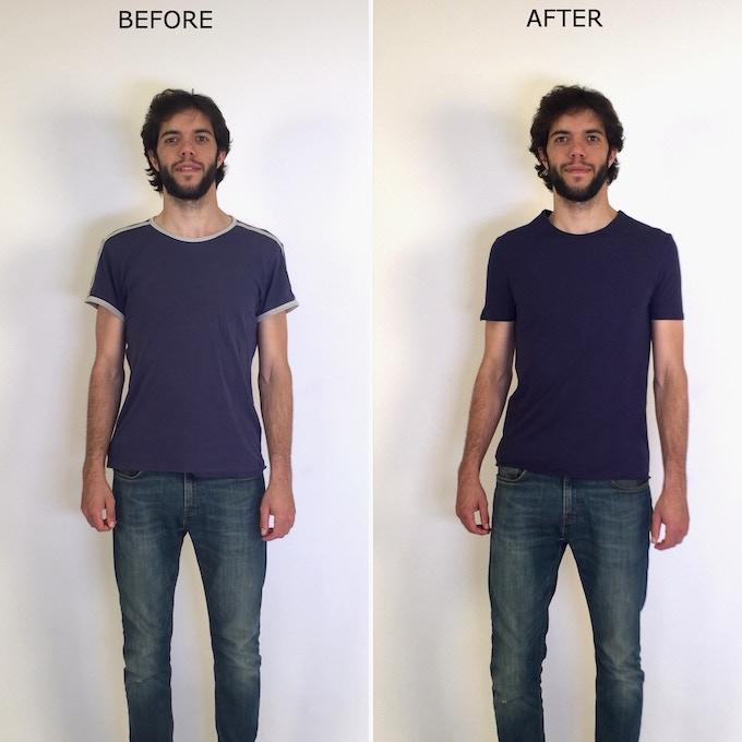 Lean model - front view