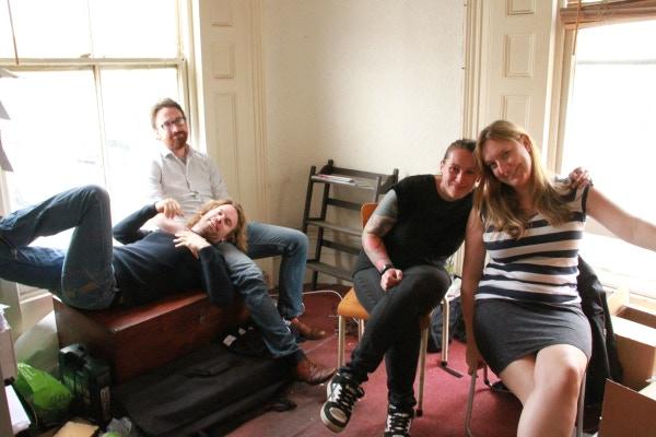 (L–R) Barry Ferns, Dec Munro, Rachel Warnes, Sarah Pearce