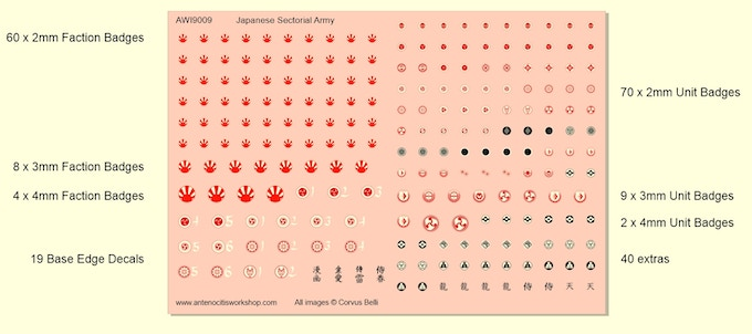 Japanese Sectorial Army Decals