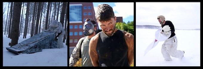 Michigan Actor Nate Alwine as Alex in various Season 1 settings.