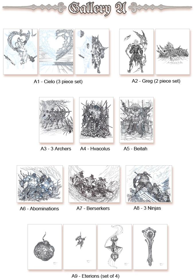 Original Sketches Gallery A (Click to enlarge)
