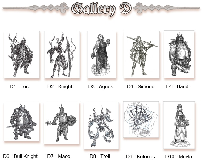 Original Sketches Gallery D (Click to enlarge)