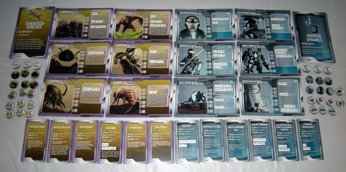Synthtech Genetics & Hadreon Dynamics Unit Cards, Enhancement Cards & Tokens