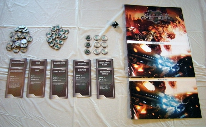 Neutral Enhancement Cards, Assorted Tokens, Game Booklets