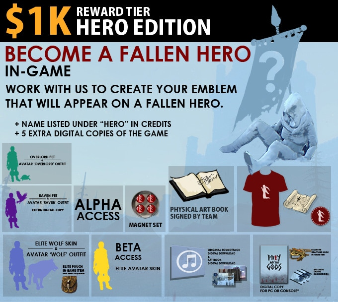 1k Hero Edition: Become a Fallen Hero. Choose your final resting place. Create a banner for all to see. Includes Alpha Edition.