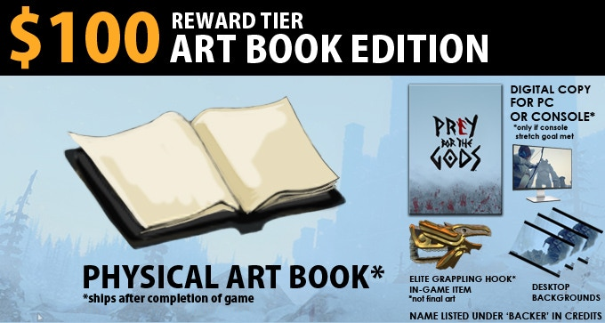 $100 Art Book Edition = Backer Plus and Physical Art Book