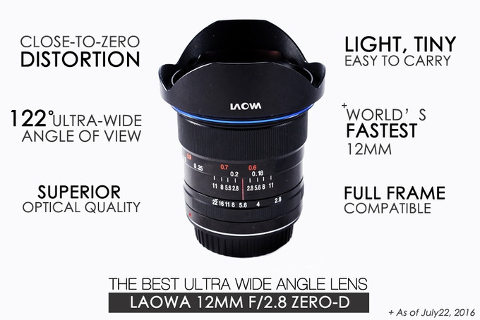 Laowa 12mm f/2.8 Zero-D – LAOWA Camera Lenses