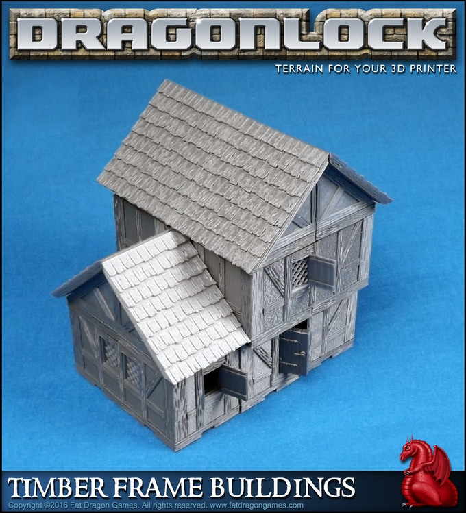 Sample design made with the 'Timber Frame Buildings' set.