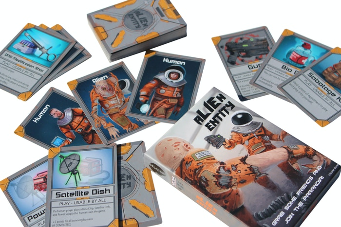 Alien Entity is a fast paced sci-fi card game. Grab some friends and join the paranoia!