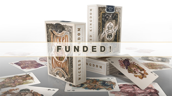 An art-rich poker deck with a narrative twist; hand-painted by fantasy illustrator Wylie Beckert and printed by the USPCC.