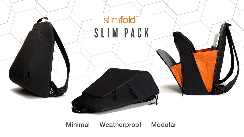 Slim Pack Weatherproof Minimal Commuter Backpack by SlimFold project video thumbnail