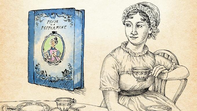 An elegant tin inspired by English Regency era tea ware