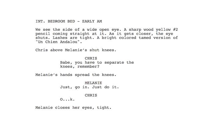 Script Excerpt Page 1