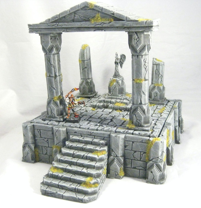 A Temple Arch combined with a Ruined Temple