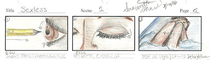Story Board Scene 1 Excerpt