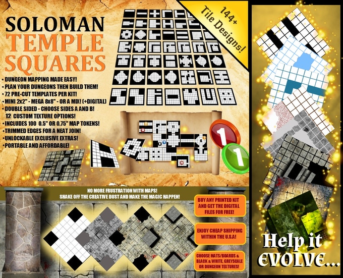 Soloman Temple Squares - Mapping Dungeons Made Easy