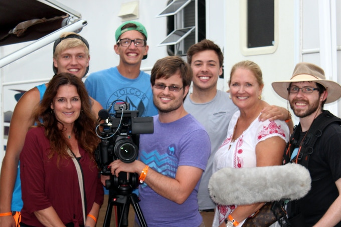 Fiddlin' crew: Julie Simone, Willy Vlasic, Liam Gannon, Joshua Ausley, Mack Sovereign, Vicki Vlasic and Tom Hauser.