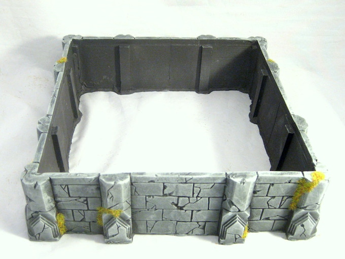 The temple base is cast in a single piece for ease of assembly.