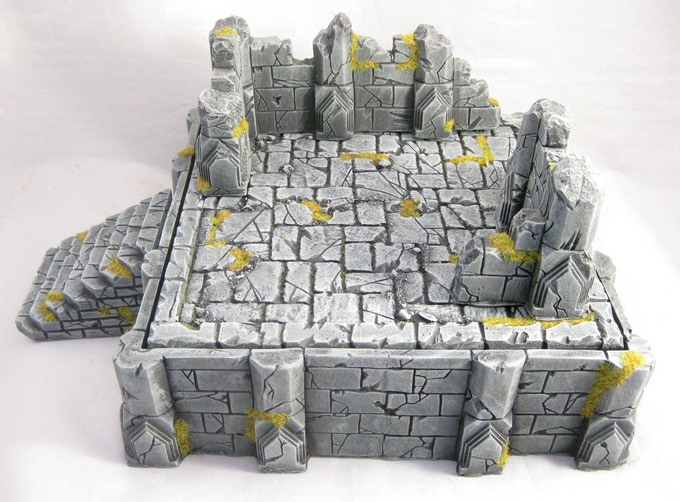 Adding some of the low ruins can create the decaying remnants of a larger structure.