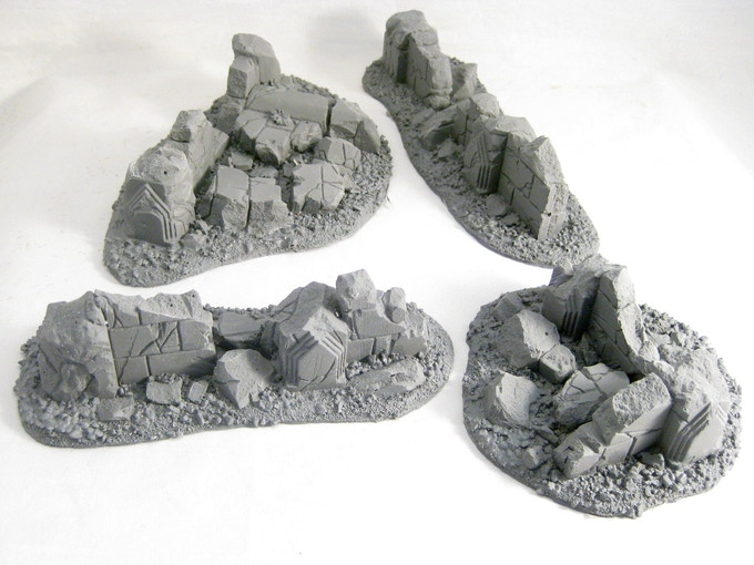 Unpainted Scattered Ruins.