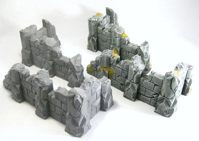 Low Ruins, before and after painting.