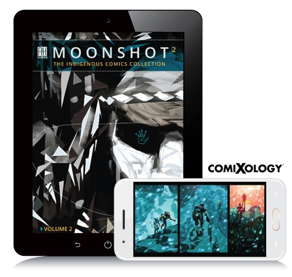 An exclusive digital edition of MOONSHOT Volume 2 from Comixology, plus a PDF copy viewable on all devices.